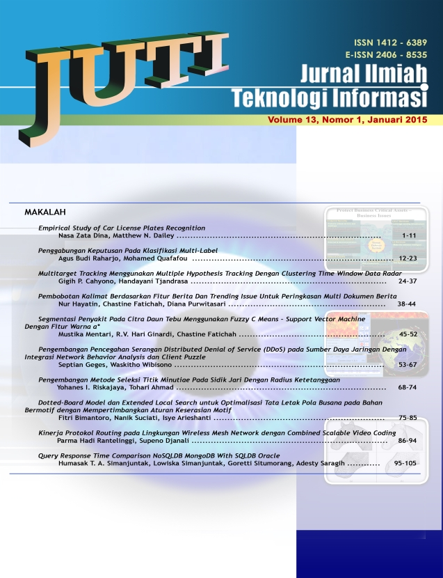 Cover Depan JUTI Volume 13, No. 1, Januari 2015